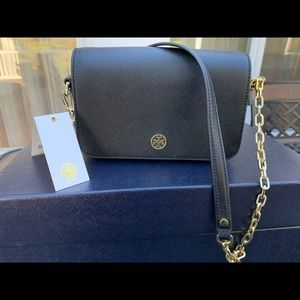 Tory Burch Robinson chain Leather Crossbody bag